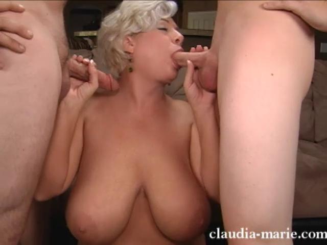 Blonde big slut breasted mature